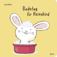 Jörg Mühle: Badetag für Hasenkind